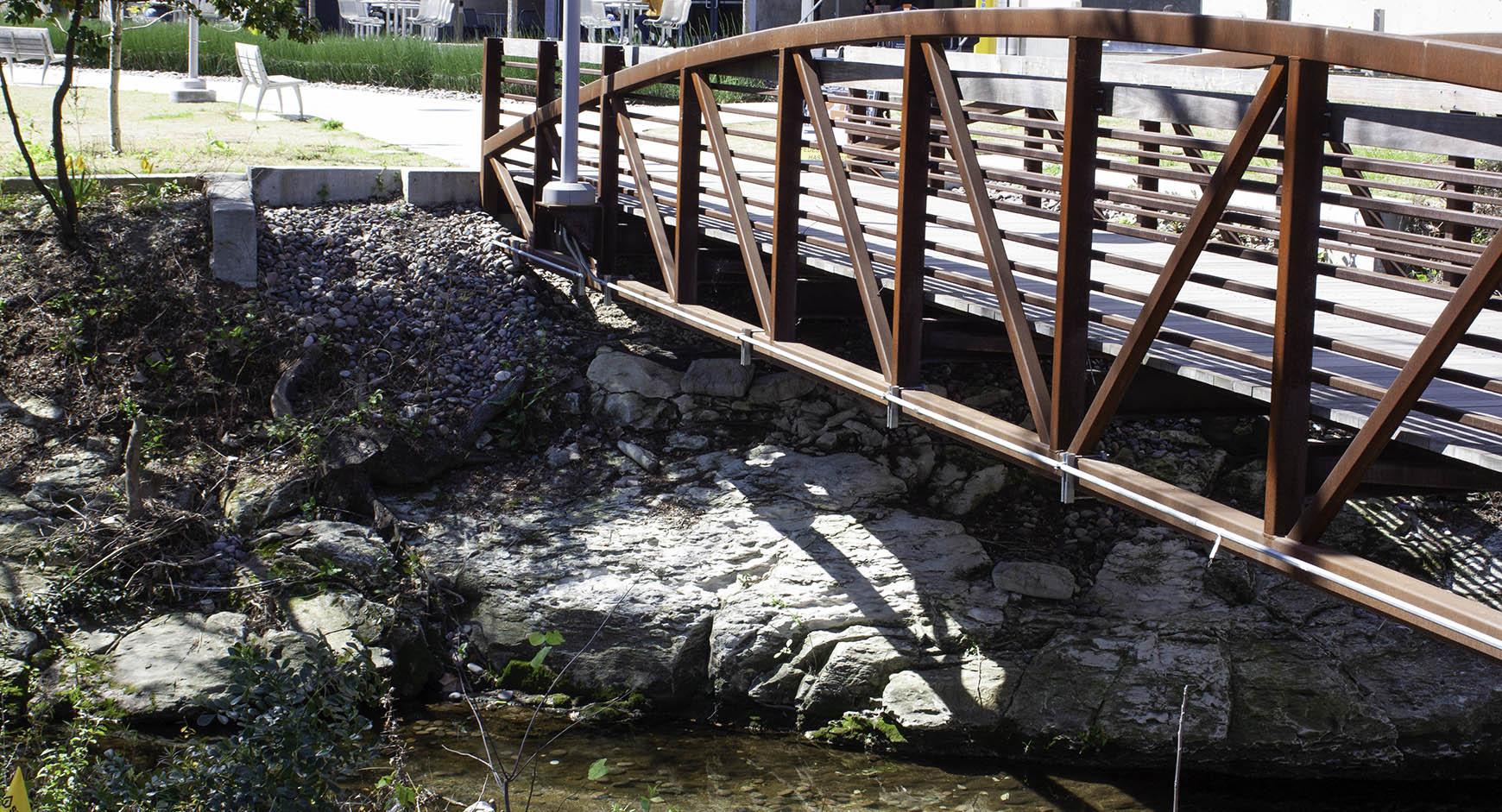 Newest bridge over Waller Creek at EER
