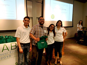 Green Labs Team at recognition event