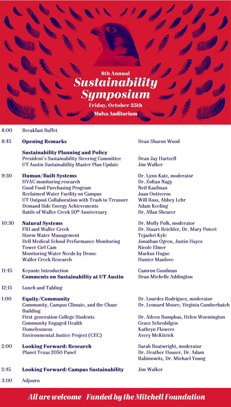 Sustainability Symposium 2019 schedule