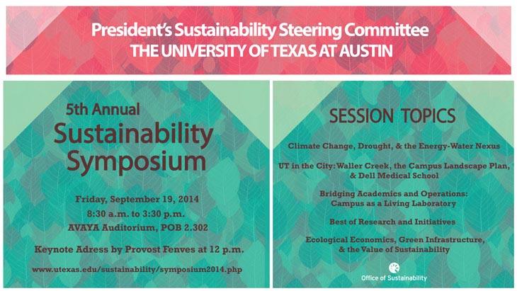Sustainability Symposium September 19, 2014