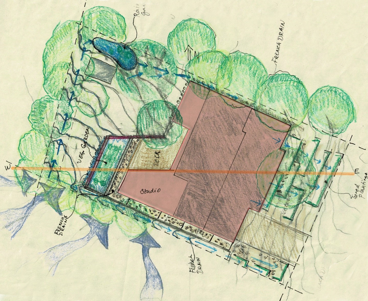 New site plan with building addition
