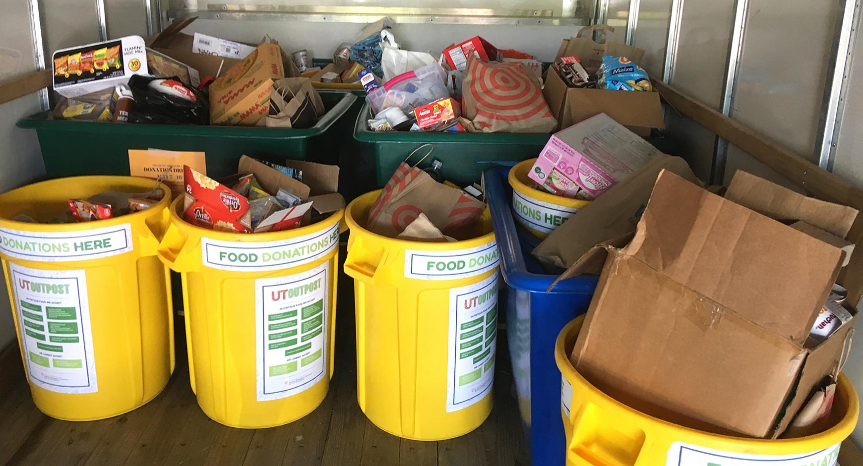 Donated food headed to UT Outpost