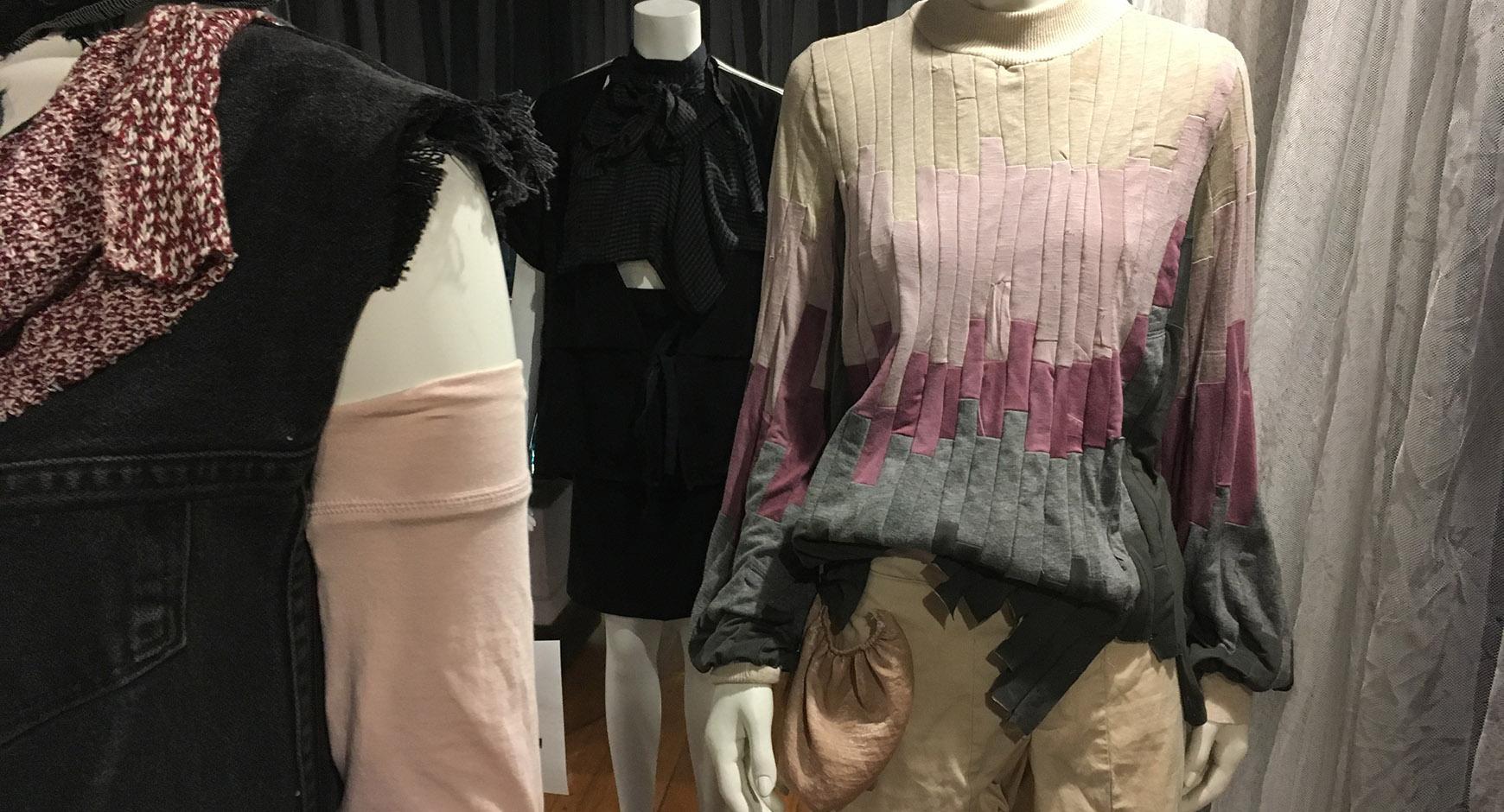 Undergraduates design fashion from old clothing