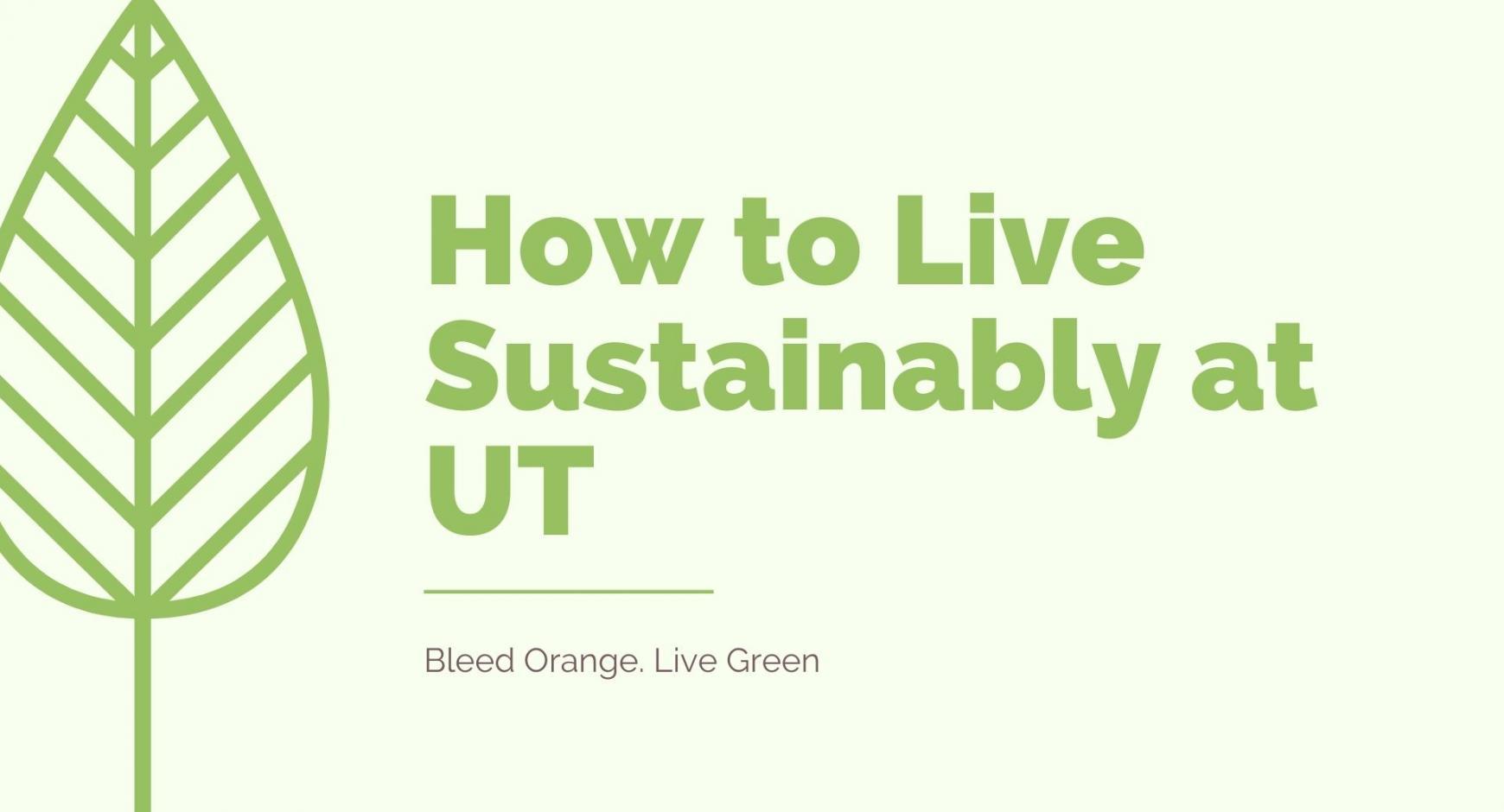 Sustainable Living at UT - title slide