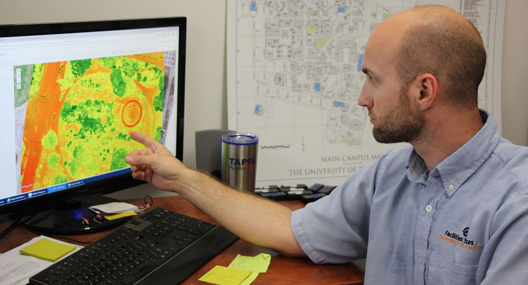 Markus Hogue using drone data