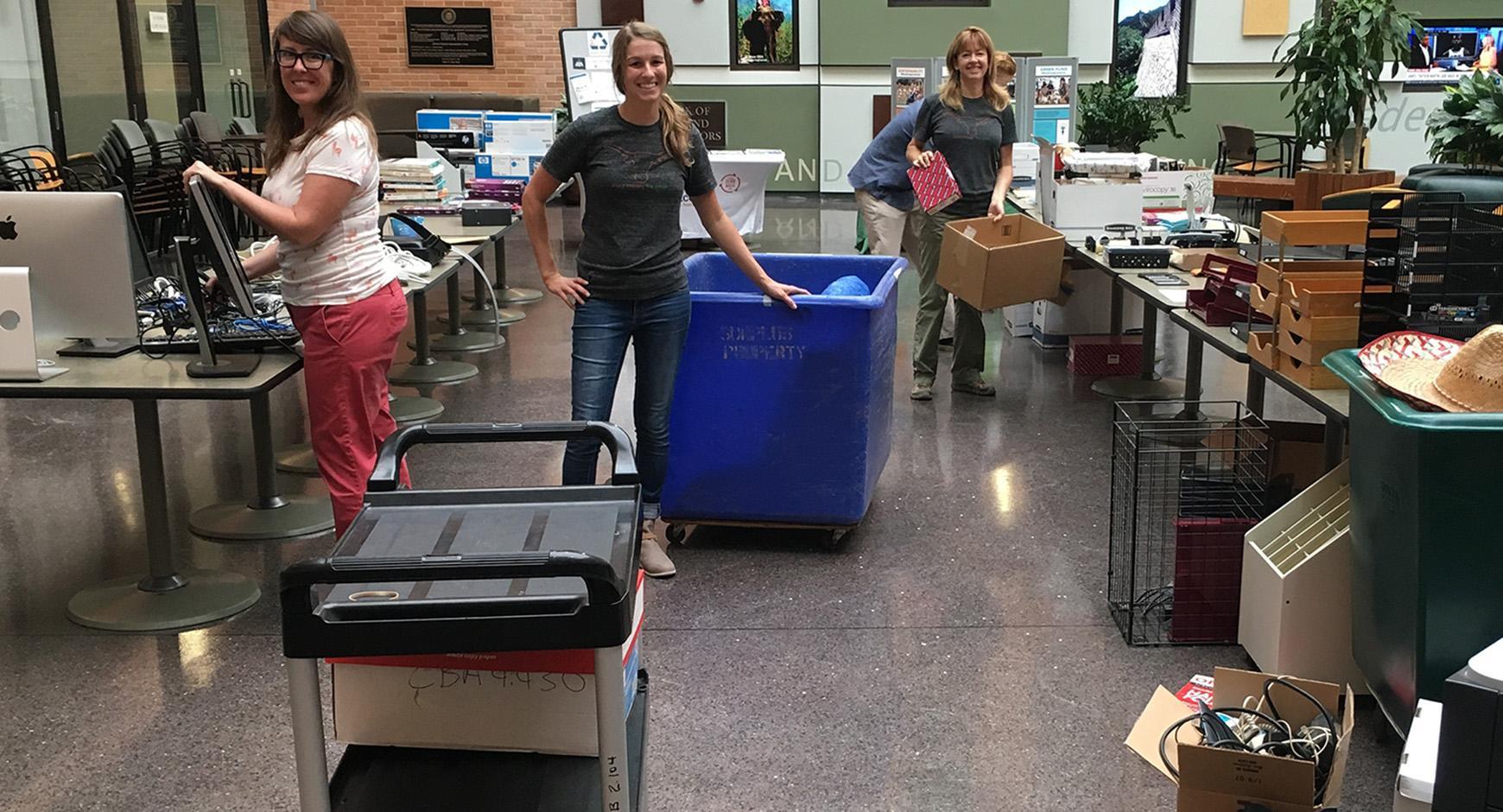 Office Supply Swap in Atrium