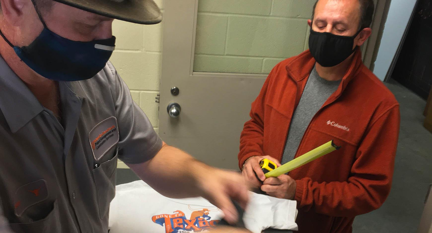 Sign Shop makes face coverings for UT