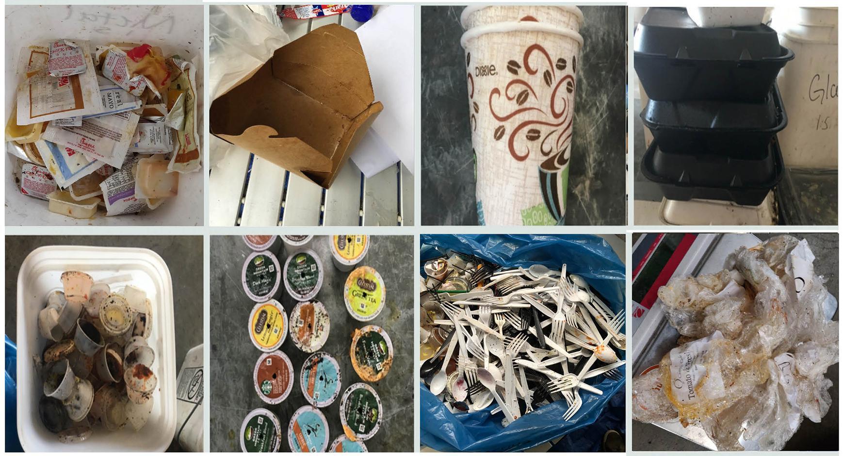 Food packaging found in waste audit at UT