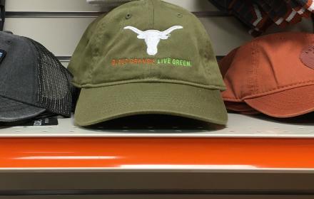 Bleed Orange, Live Green hats