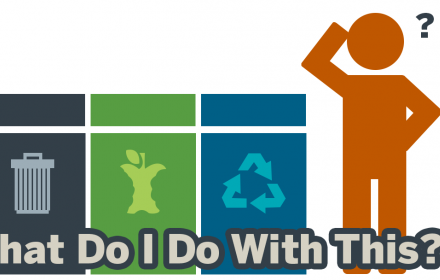 """What Do I Do With This"" Sorting Database logo"