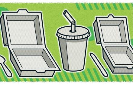 Single-use plastic food products.