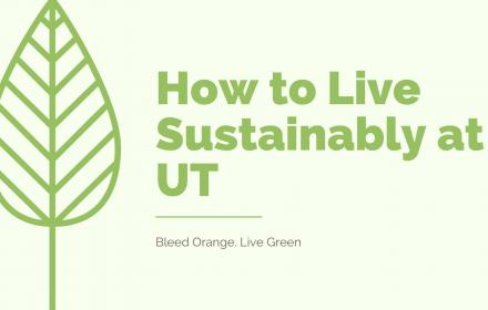Sustainable Living at UT - title slide