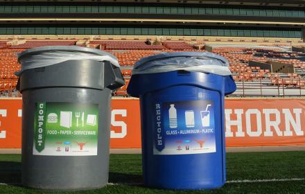 Recycling at Texas Memorial Stadium