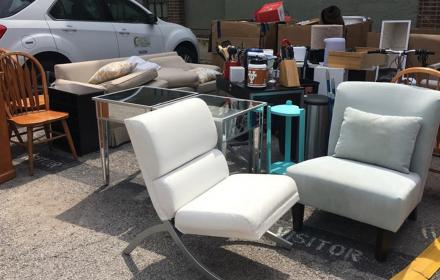 Items ready for reuse during West Campus Move Out