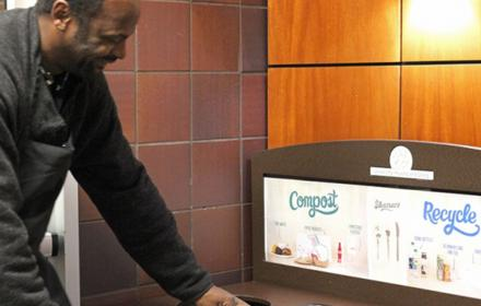 Clean composting in Housing and Dining