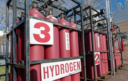 Hydrogen tanks at the National Renewable Energy Laboratory