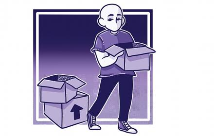 Daily Texan image of moving boxes