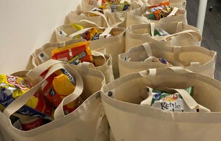 Bags of food from UT Outpost